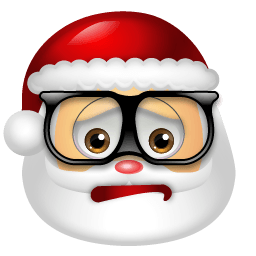 Santa Claus Nerd Sticker