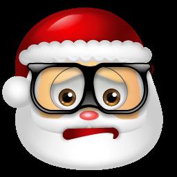 Santa Claus Nerd Sticker