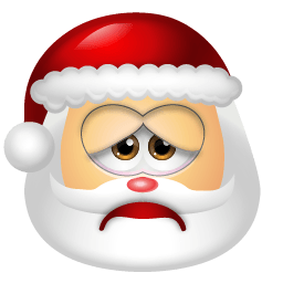 Santa Claus Sad Sticker