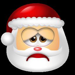 Santa Claus Sad Sticker