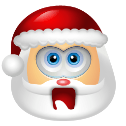 Santa Claus Shock Sticker