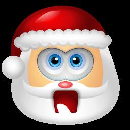 Santa Claus Shock Sticker