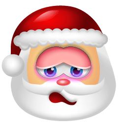 Santa Claus Shy Sticker