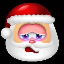 Santa Claus Shy Sticker
