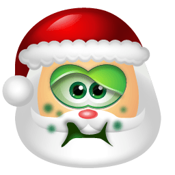 Santa Claus Sick Sticker
