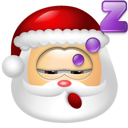 Santa Claus Sleep Sticker