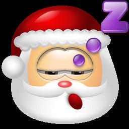 Santa Claus Sleep Sticker