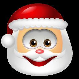 Santa Claus Smile Sticker