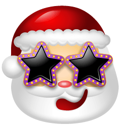 Santa Claus Stars Sticker