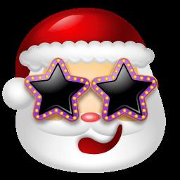 Santa Claus Stars Sticker