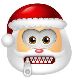 Santa Claus Stop Talking Sticker
