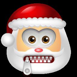 Santa Claus Stop Talking Sticker