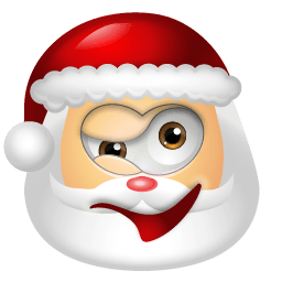 Santa Claus Wink Sticker