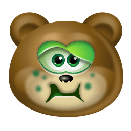 Teddy Bear Sick Sticker