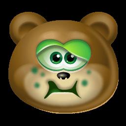 Teddy Bear Sick Sticker