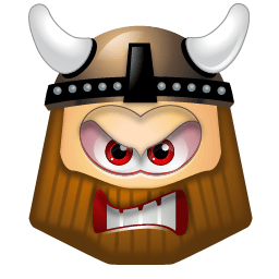 Viking Angry Sticker
