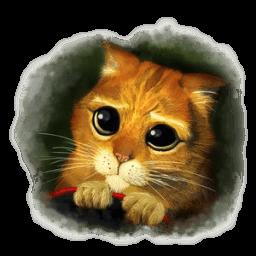 Puss 3 Sticker