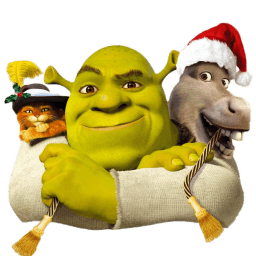 Shrek And Donkey And Puss Sticker