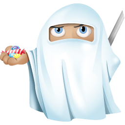 Ninja Ghost Sticker