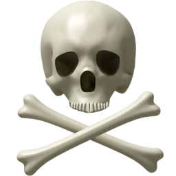 Skull And Bones Sticker