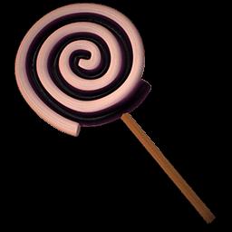 Lolly Spiral Black Sticker