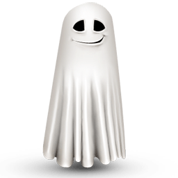 Shy Ghost Sticker