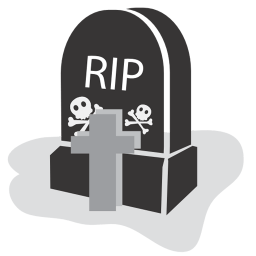 Graveyard Rip Sticker