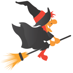 Witch Broom Sticker