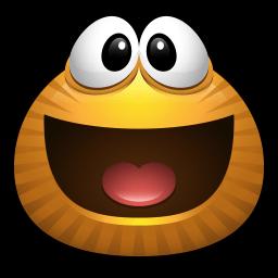 Brown Monster Emoticon Stickers