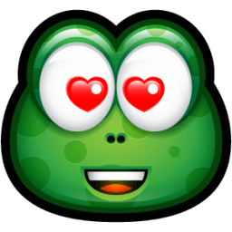 Green Monster Emoticon Stickers