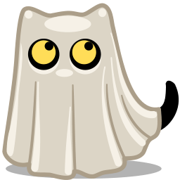 Cat Ghost Sticker