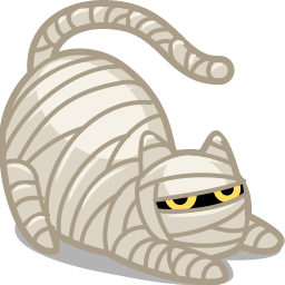 Cat Mummy Sticker