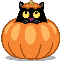 Cat Pumpkin Sticker