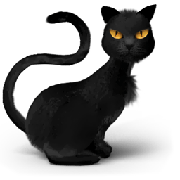 Black Cat Yellow Eyes Sticker