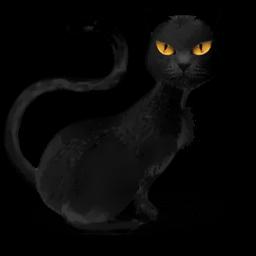 Black Cat Yellow Eyes Sticker