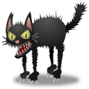 Scary Cat Sticker