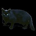 Black Cat Green Eyes Sticker