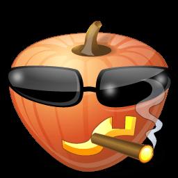 Pumpkin Cool Sticker