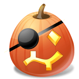 Pumpkin Pirate Sticker