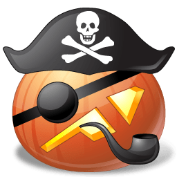 Pumpkin Pirate Captain Sticker