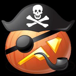 Pumpkin Pirate Captain Sticker