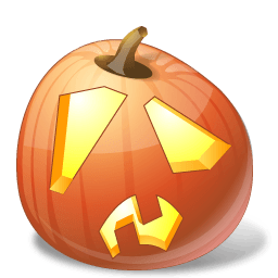 Pumpkin Shock Sticker