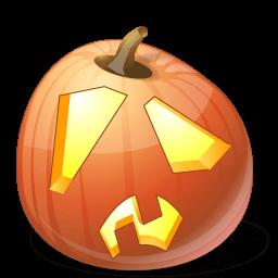 Pumpkin Shock Sticker