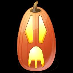 Pumpkin Surprised Sticker