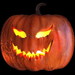 Pumpkin Evil Sticker