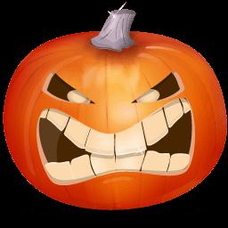 Pumpkin Angry Dark Sticker