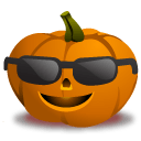 Pumpkin Cool Sticker