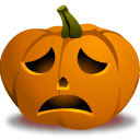 Pumpkin Sad Sticker