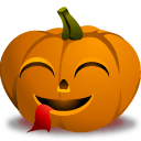 Pumpkin Tounge Sticker