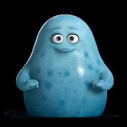 Cute Blue Monsters Sticker
